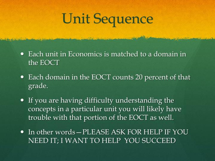 Unit Sequence