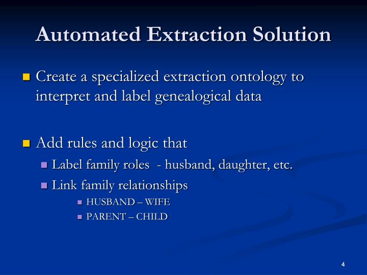 Automated Extraction Solution