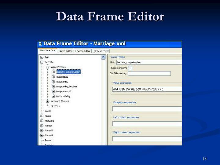 Data Frame Editor