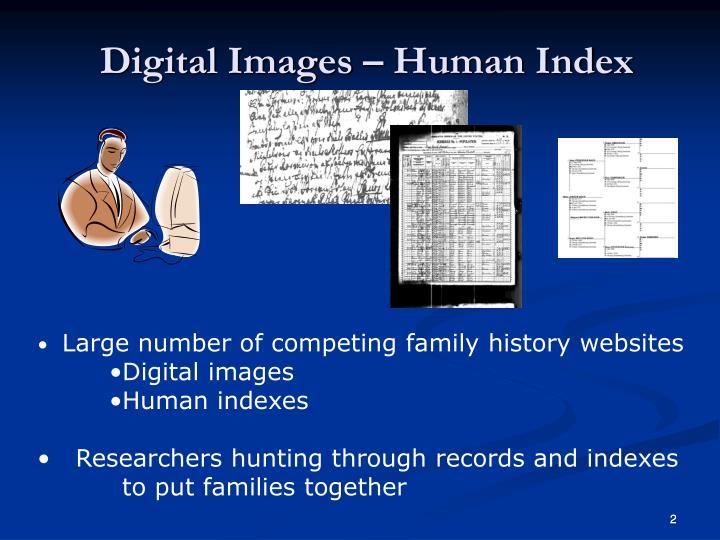 Digital Images – Human Index