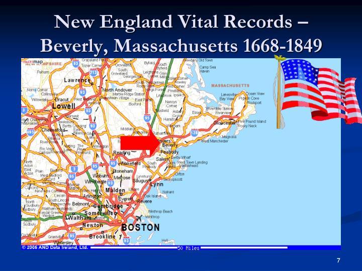 New England Vital Records – Beverly, Massachusetts 1668-1849