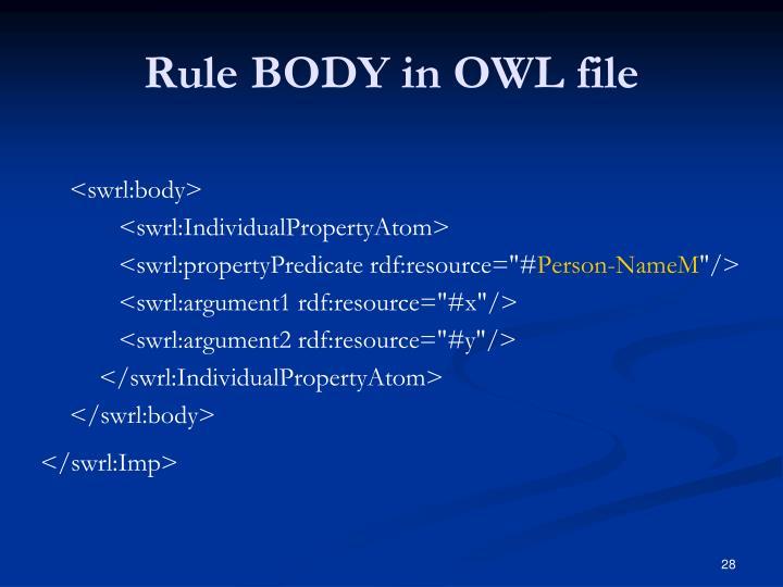 Rule BODY in OWL file