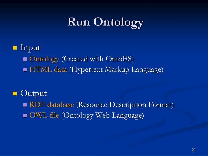 Run Ontology