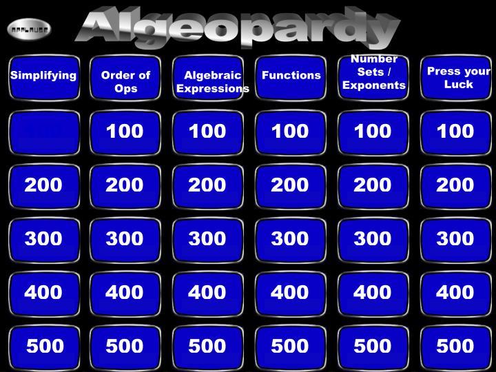 Algeopardy
