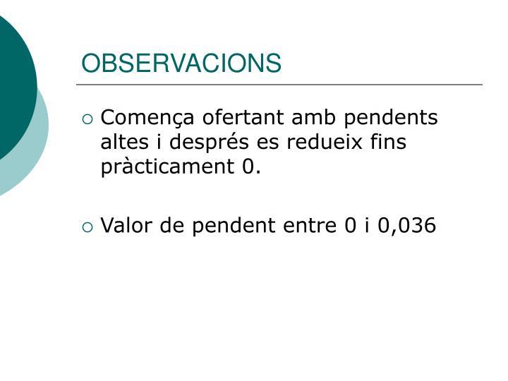 OBSERVACIONS