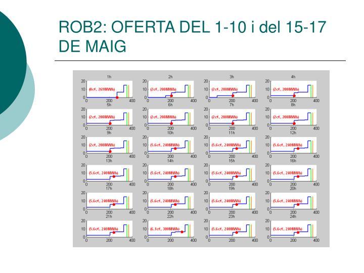 ROB2: OFERTA DEL 1-10 i del 15-17  DE MAIG
