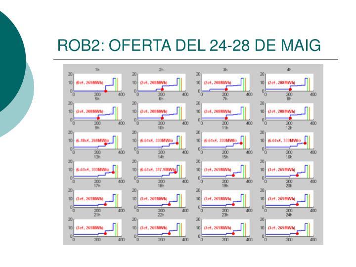 ROB2: OFERTA DEL 24-28 DE MAIG