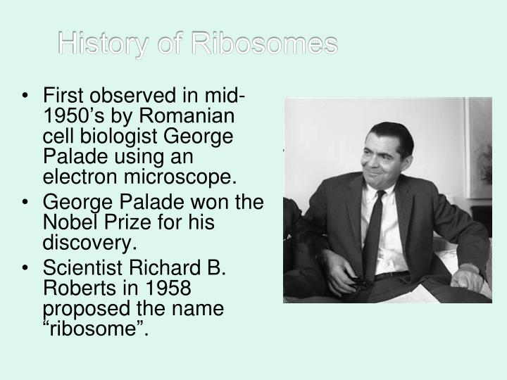 History of Ribosomes