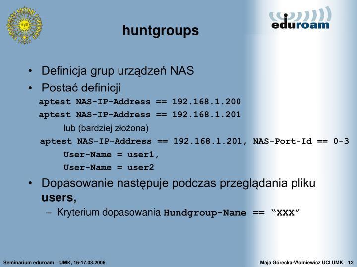 huntgroups