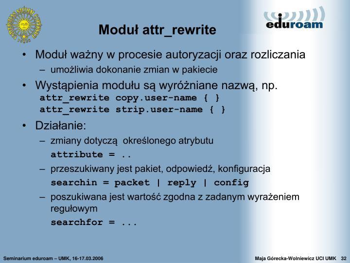 Moduł attr_rewrite