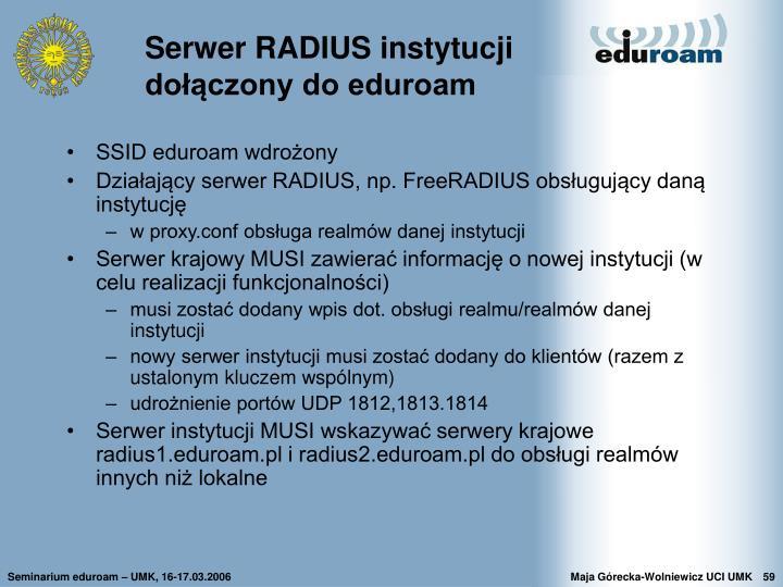 Serwer RADIUS instytucji