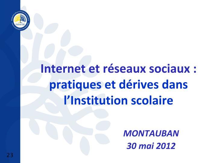 Internet et réseaux sociaux :