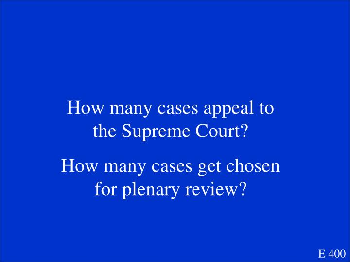 How many cases appeal to the Supreme Court?