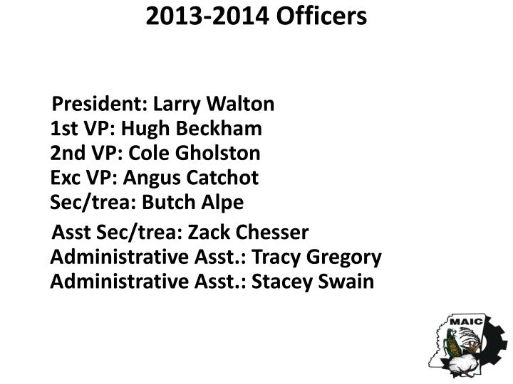 2013-2014 Officers