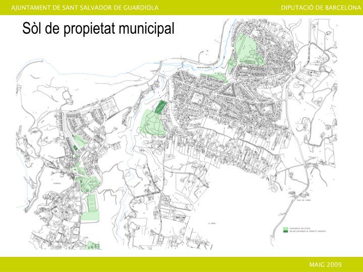 Sòl de propietat municipal