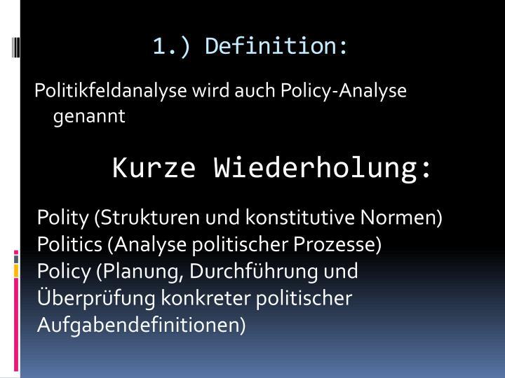 1.) Definition: