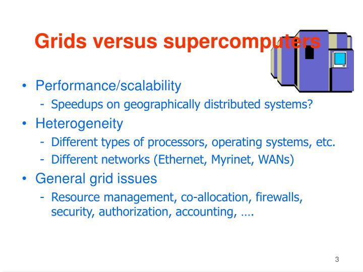 Grids versus supercomputers
