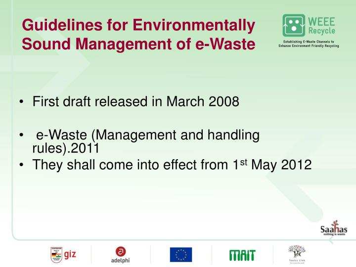 Guidelines for Environmentally