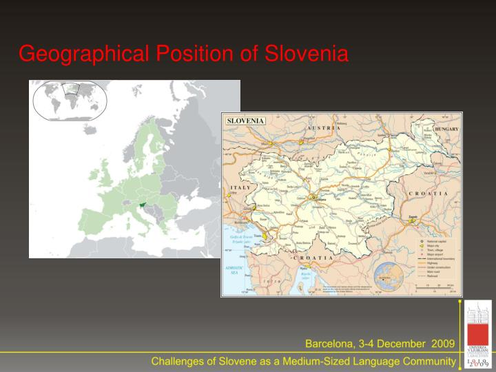 Geographical position of slovenia