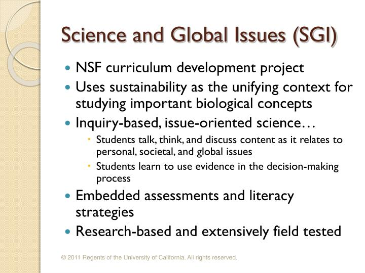 Science and Global Issues (SGI)