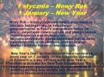 1 stycznia nowy rok 1 january new year