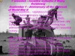 1 wrzesie rocznica wybuchu 2 wojny wiatowej september 1 anniversary of the outbreak of world war ii