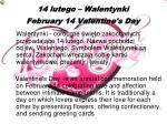 14 lutego walentynki february 14 valentine s day