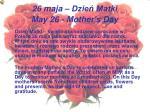 26 maja dzie matki may 26 mother s day