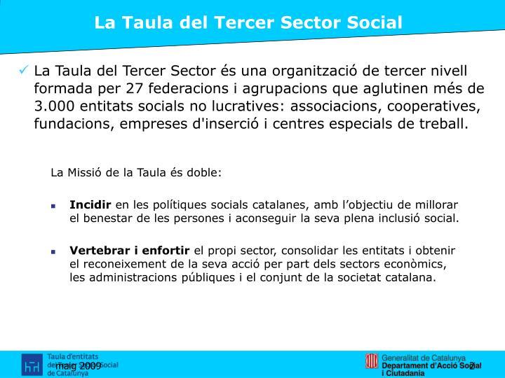 La Taula del Tercer Sector Social