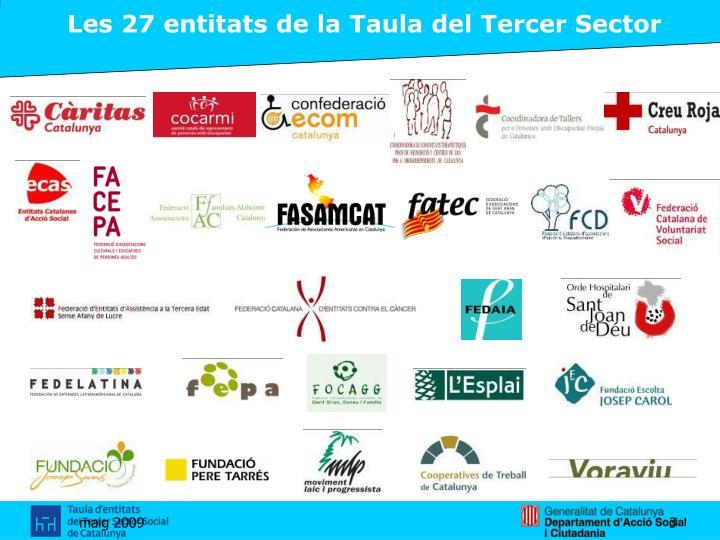 Les 27 entitats de la Taula del Tercer Sector