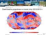 zawirowania pogodowe w czasie zimy 2012 2013 r