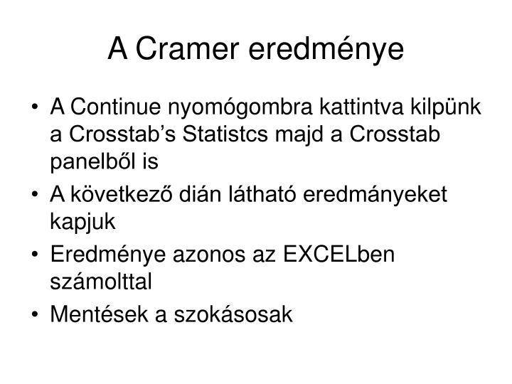 A Cramer eredménye