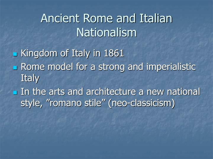 Ancient Rome and Italian Nationalism