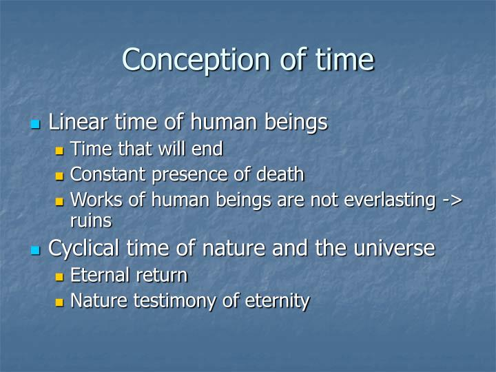 Conception of time