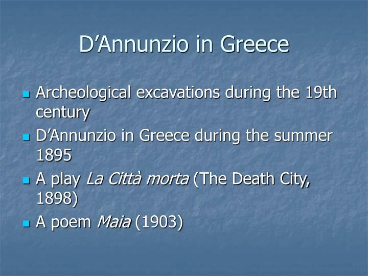 D'Annunzio in Greece