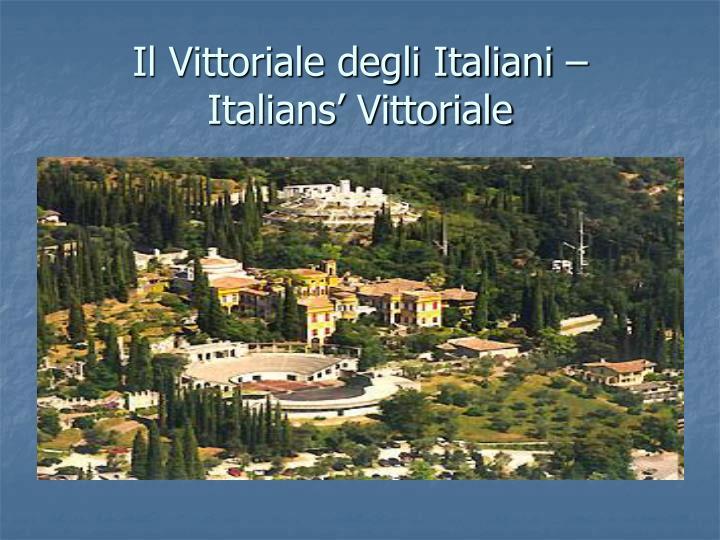 Il Vittoriale degli Italiani –