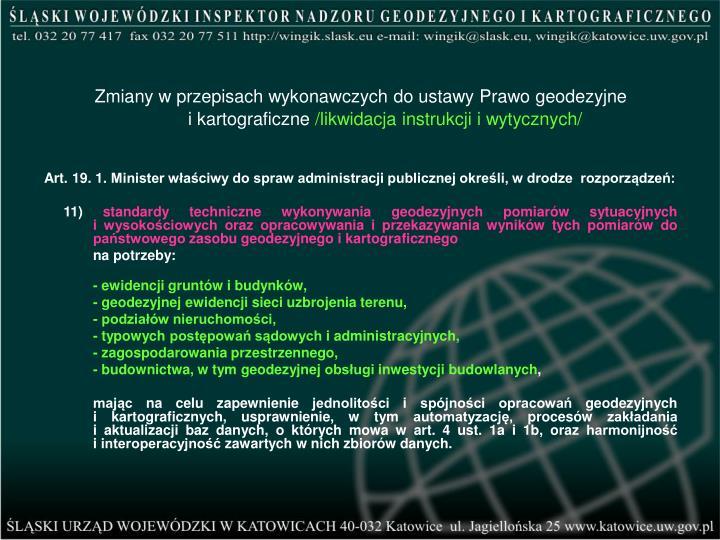 Zmiany w przepisach wykonawczych do ustawy Prawo geodezyjne