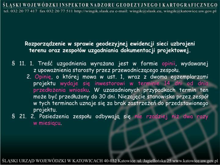 Rozporządzenie w sprawie geodezyjnej ewidencji sieci uzbrojeni