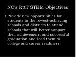 nc s rttt stem objectives