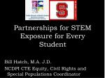partnerships for stem exposure for every student