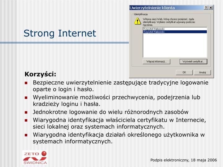 Strong Internet
