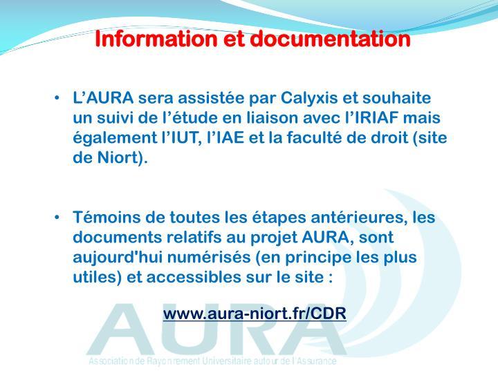 Information et documentation