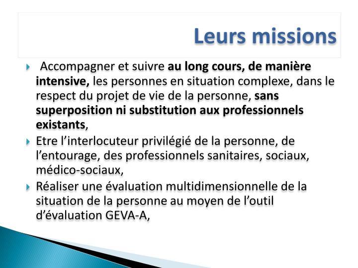Leurs missions