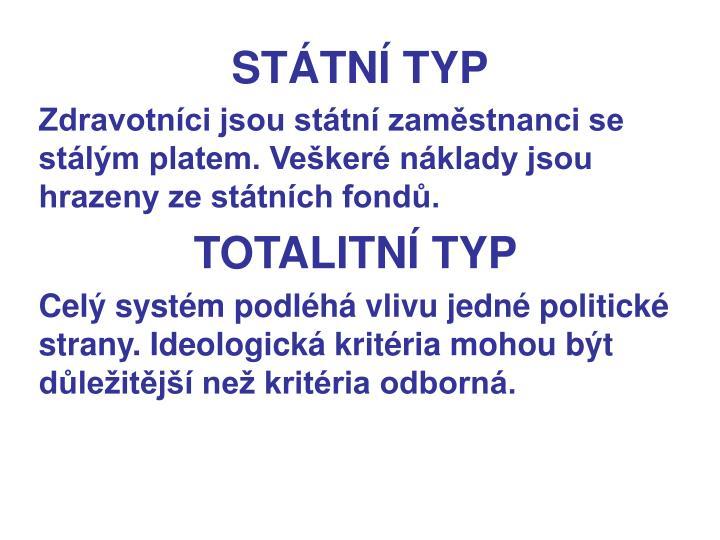 STÁTNÍ TYP