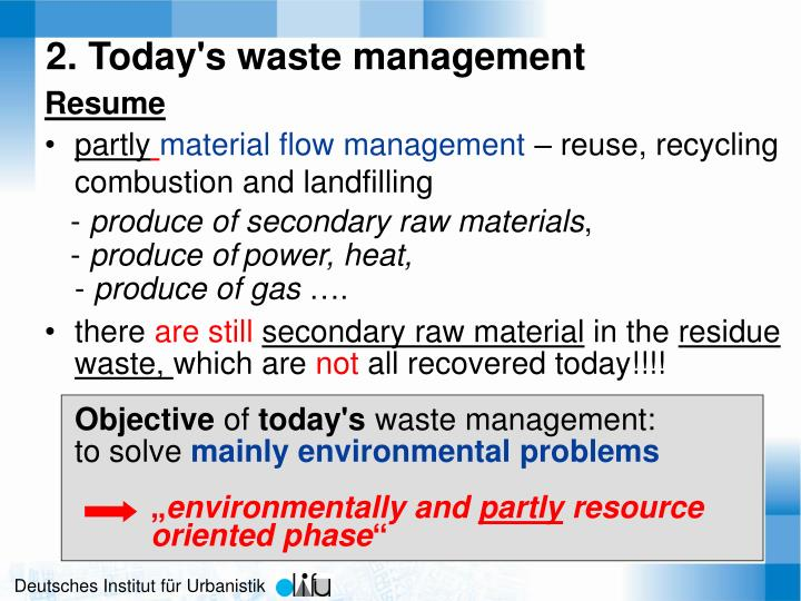 2. Today's waste management
