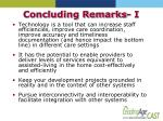 concluding remarks i
