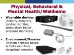 physical behavioral mental health wellbeing