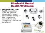 physical mental health wellbeing
