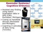 reminder systems cognitive orthotics