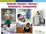 robotic doctor nurse assistant companion